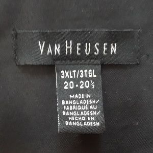Black Van Heusen long sleeve dress shirt 3XLT